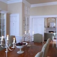 Dining room in listed Georgian manor house